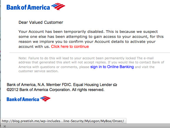 The Daily Scam | Bank of America