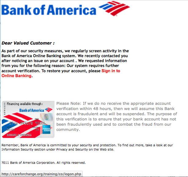 bank of america tax reporting address
