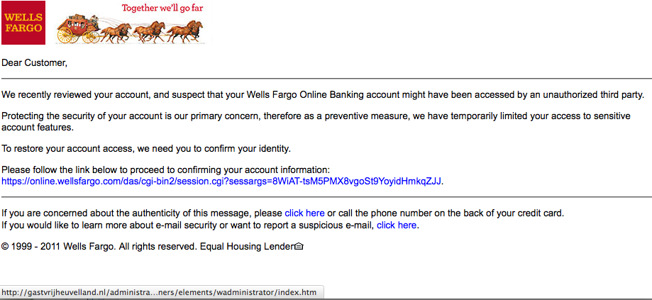 The Daily Scam Wells Fargo Bank