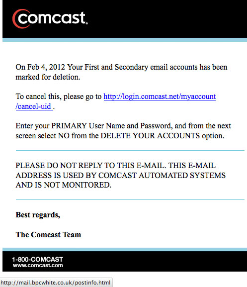 The Daily Scam Comcast