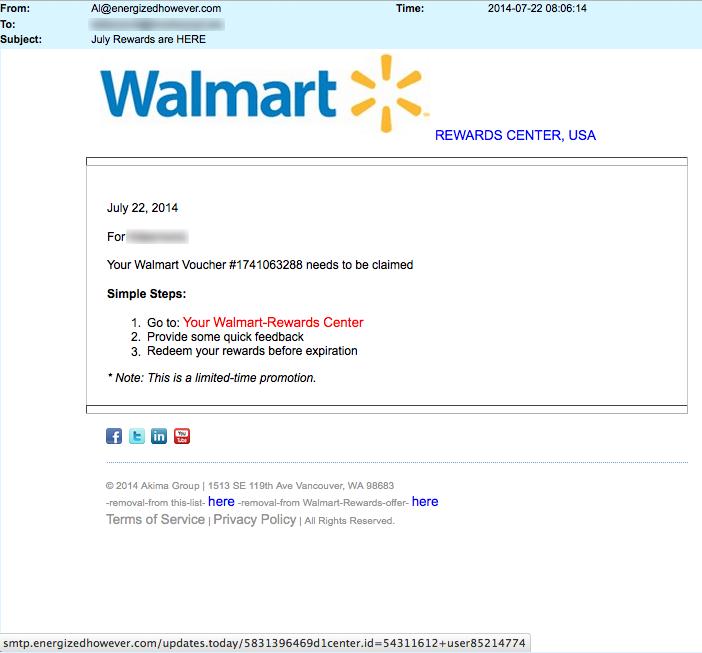 Walmart voucher