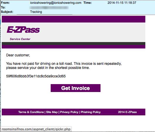 EZ Pass fine due