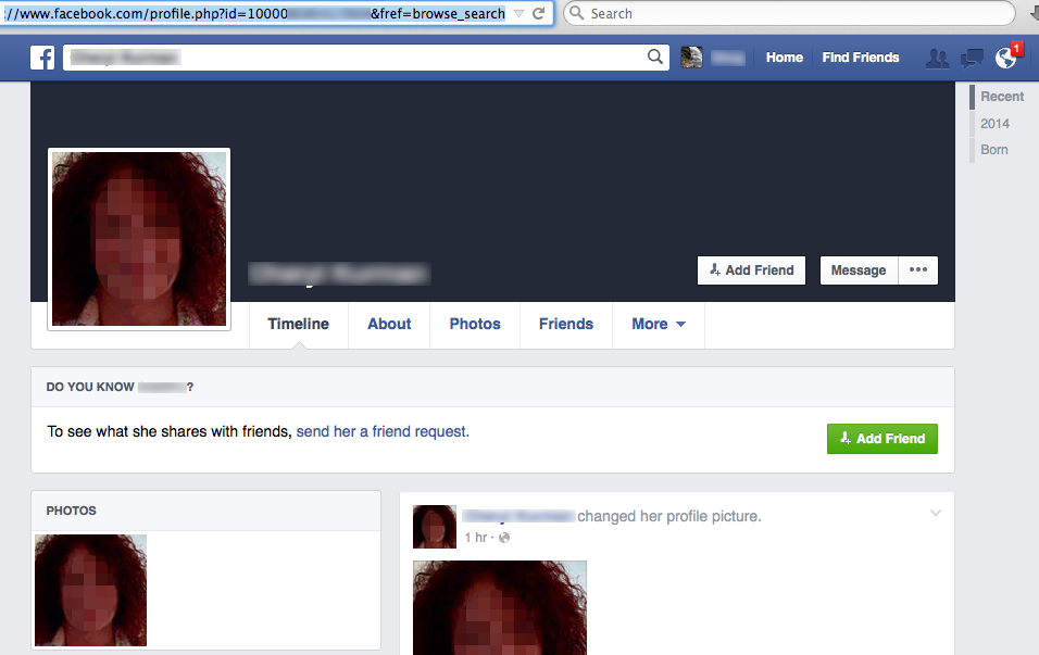 FB phony account