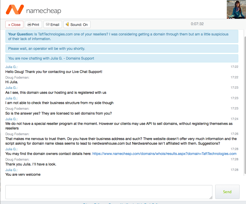 12-NameCheap tech support chat 6-30-15
