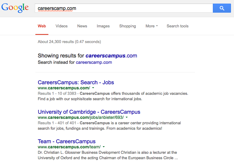 4-careerscamp Google search