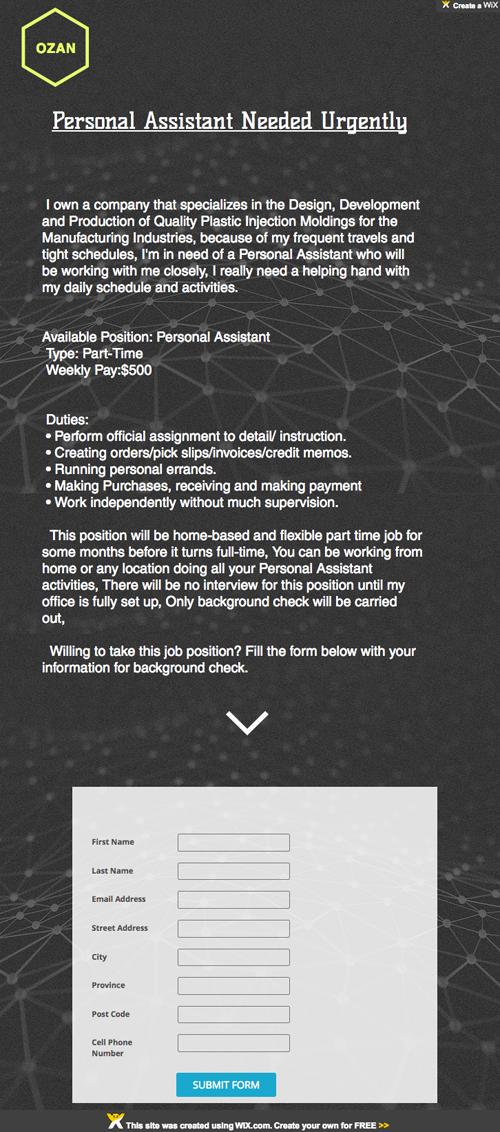 interior design personal assistant jobs salary