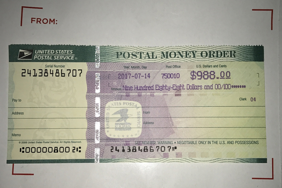 money order serial number check