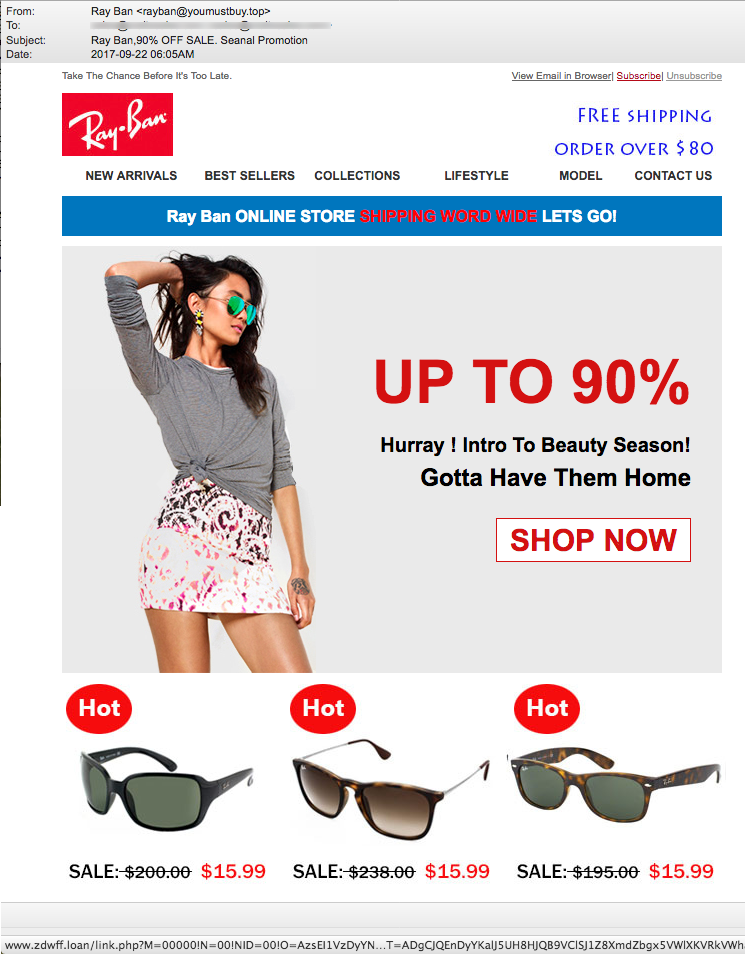 ray ban 90 off email