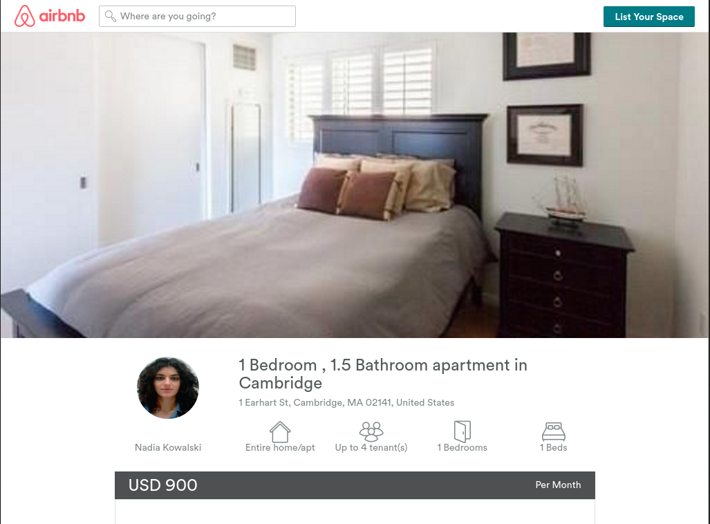 The Daily Scam Airbnb Scam Hits User For 48 New 1 Bedroom Apartments In Cambridge Ma Ideas