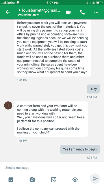 The Daily Scam   Job Interviews In Google Hangouts