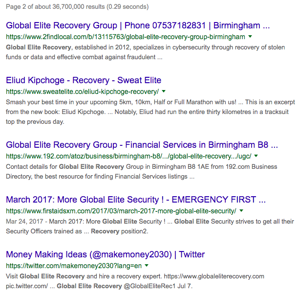The Daily Scam   Global Elite Recovery Group